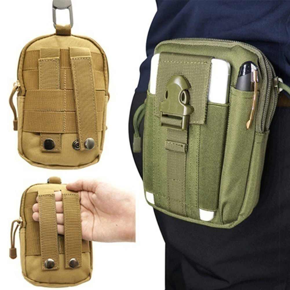 Army Oxford Cloth Mens Mini Hook Waist Bag Belt Outdoor Zipper Fanny Pack Bum Bag Mariconera Hombre сумка на пояс мужская