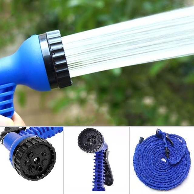 Garden water pipe with spray gun for car washing use Plastic ...