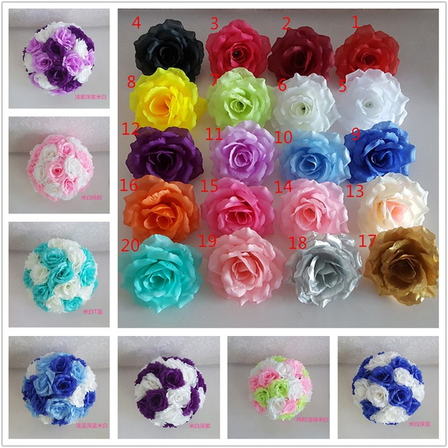 100 pcs 10cm silk rose heads artificial flower roses blooms kissing 100 pcs 10cm silk rose heads artificial flower roses blooms kissing ball flowers diy wholesale lots mightylinksfo