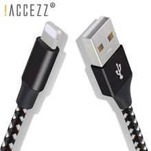 цена на !ACCEZZ Fast Charging Data Sync Cable 8pin USB Charger Cbales For  iPhone X XS XR MAX 5 6 7 8s Plus For iPad Mini 1/3M Cord Line