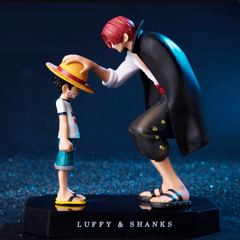 2019 New Anime One Piece Four Emperors Shanks Straw Hat Luffy PVC Action Figure Doll Child Luffy Collectible Model Toy Figurine