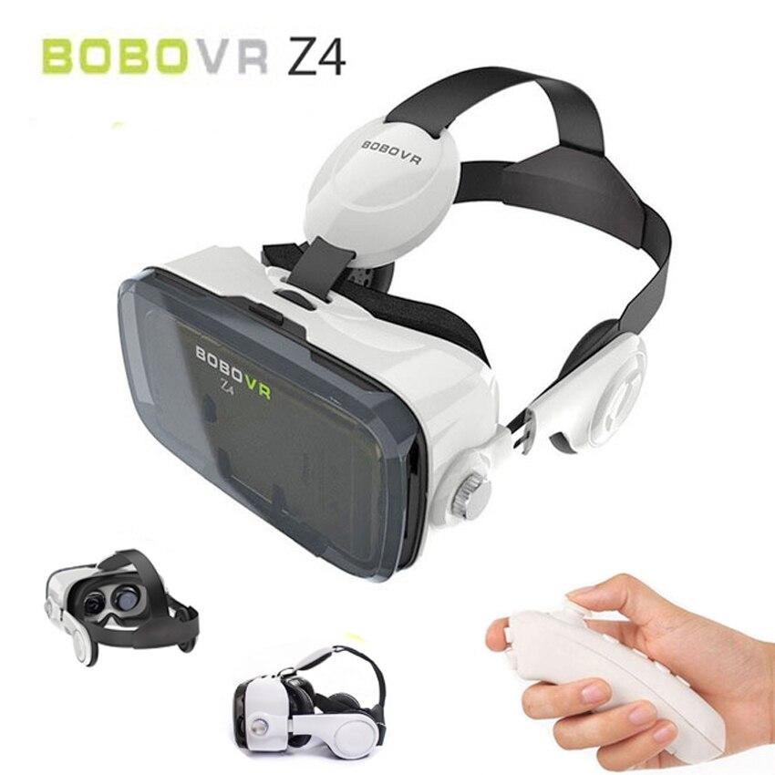 Original BOBOVR Z4 Leather 3D Cardboard Helmet Virtual Reality BOBO VR Glasses Headset Stereo Box Devices For 4-6 Mobile Phone
