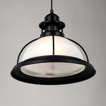 Vintage Pendant Lights Industrial Glass Hanging Lamp Black Loft Lamp Restaurant Study Decoracion Hogar Nordico Lights Fixtures