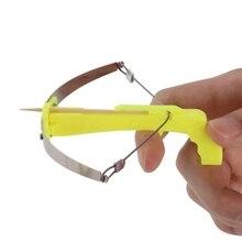 DIY дети ребенок мини зубочистка крест лук стрельба игрушка с 100 шт. зубочистки лучший подарок
