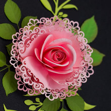 2019 new Layred Flower Leaves Leaf Cutting Dies Stencils for DIY Scrapbooking/photo album Decorative Paper Cards(China)