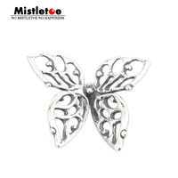 Genuine 925 Sterling Silver Charms Butterfly Charms Beads Fits Pandora Troll Bracelet Jewelry Animal Wholesale
