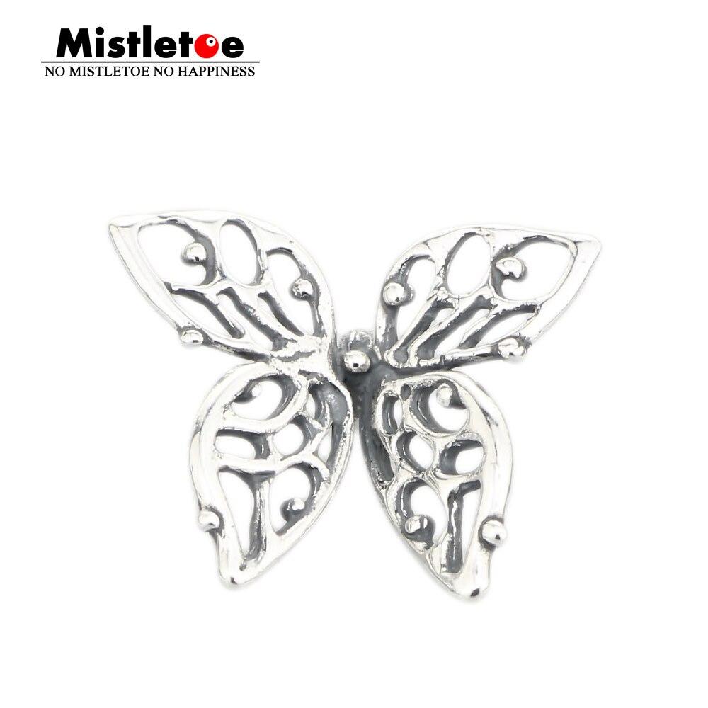Mistletoe Jewelry Genuine 925 Sterling Silver Charms Butterfly Charms Beads Fits Troll Bracelet Jewelry Animal