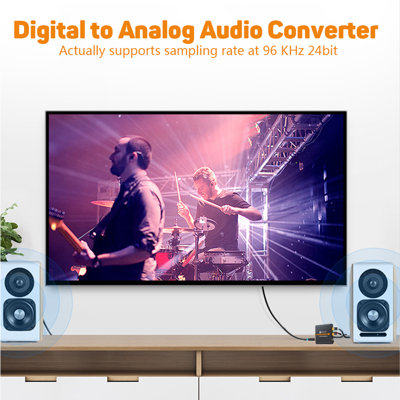 Neoteck Digital to Analog Audio Converter Digital Optical Coaxial Toslink Signal To Analog 3.5mm L/R RCA Audio For DVD Amplifier