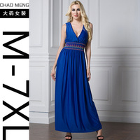 M 7XL Long Dress V Neck Elegant Cultivating Female Beautiful Party Dress Casual Vestidos Plus Size