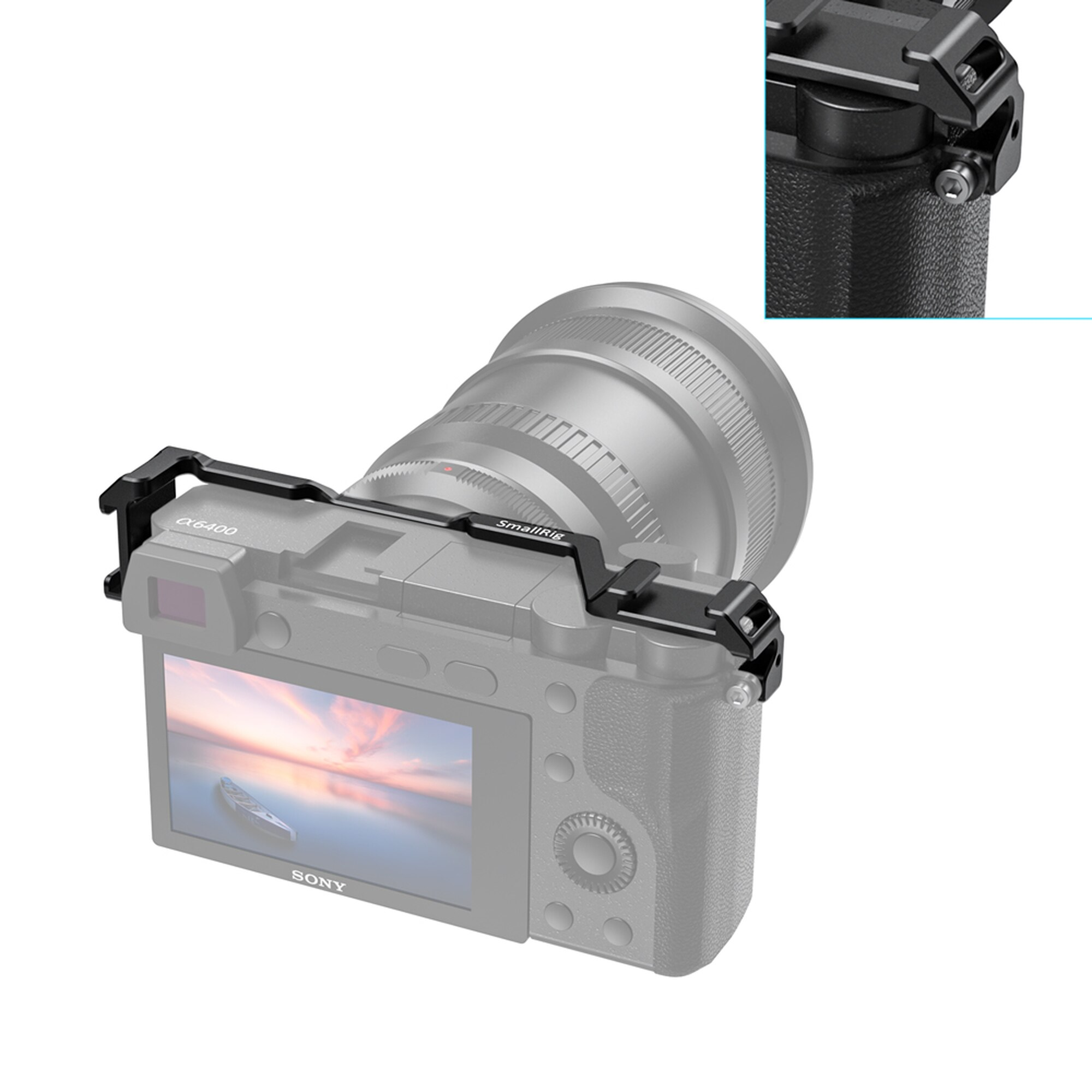 SmallRig Cold Shoe Relocation Mount for Sony A6100 A6300 A6400 A6500 w 2 cold Shoe Mount For Microphone DIY Options 2334 in Tripod Monopods from Consumer Electronics