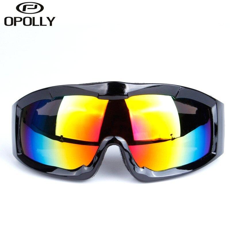 Один Слои взрослых Лыжный Спорт Очки поляризованные УФ-защита Сноубординг катание, открытый Мотокросс пыле спортивные очки