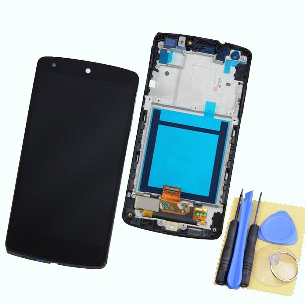 New Black for LG Google Nexus 5 D820 D821 Touch Screen Digitizer + LCD Display Full Frame Assembly+ Tools new original for lg google nexus 5 d820 d821 lcd display panel with touch screen digitizer full frame assembly 100