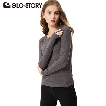 GLO-STORY Women Sweaters and Pullovers 2018 Plus-size Long Sleeve Jumper Womens Sweater Winter Pullover WMY-2610