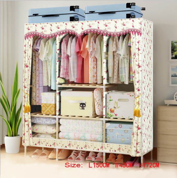 Factory Price Solid Wood Wardrobe  length 150 cm|Wardrobes| |  - title=