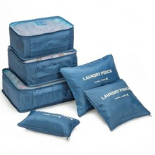 6PCS Travel Waterproof Storage Bag Clothes Underwear Bra Packing Cube Luggage Organizer Pouch Home Closet Divider Organiser