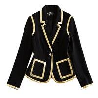 XF 950 10 66 2018 Autumn Newest Jacket Fashion Designer Women's Long Sleeve Button Dress Black Top Jacket
