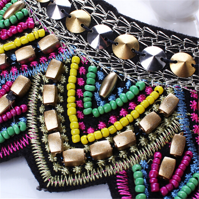 Female vintage choker pendants&necklaces big boho necklaces ethnic bohemian jewelry statement tribal Colorful bijoux femme mujer 4