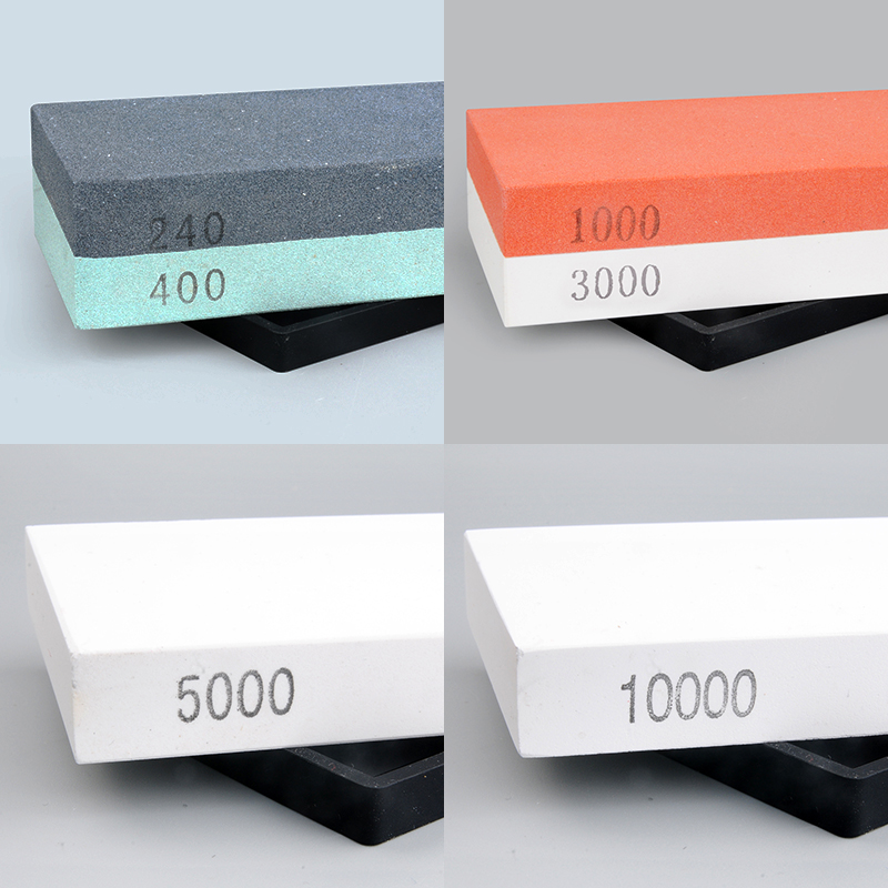 4PCS SET 240 400 1000 5000 10000 grit professional whetstone knife sharpener sharpening stone knife honing