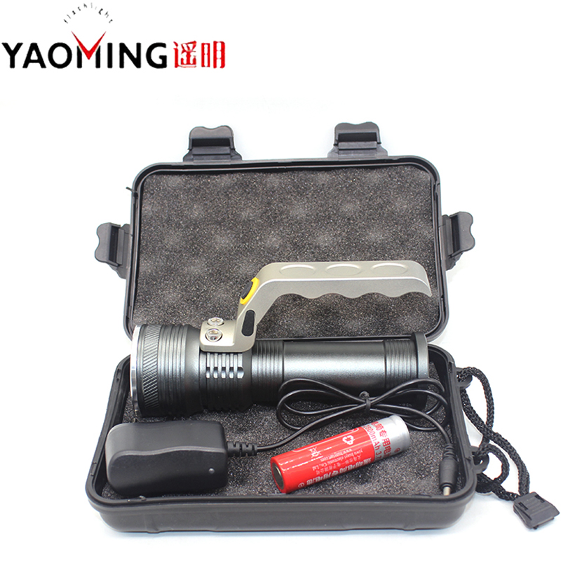 LED Hand Lamp Portable Flashlights With Gift Box Direct Charging 18650 Battery Hand Lights Searchlights Rechargeable Lamps Torch