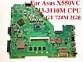 Para asus x550vc ddr3 laptop motherboard gt 720 m 2 gb i3-3110m cpu hm76 x550cc rev: 2.0 motherboard 100% testado navio rápido