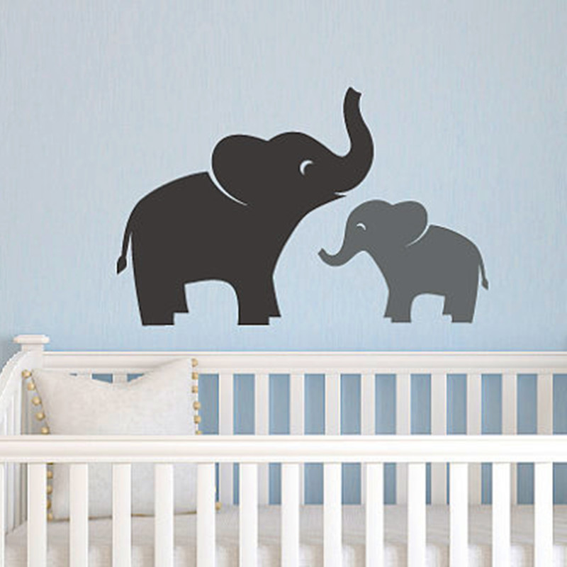 Aliexpress.com : Buy Mom U0026 Baby Elephant Wall Decal Set Jungle Safari  Children Boy Girl Wall Sticker Home Decor Vinyl Wall Quote From Reliable  Sticker Tape ... Part 95
