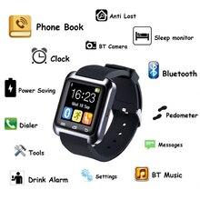 1 pc Smart Watch femmes hommes sport étudiant montre horloges U80 Bluetooth Montres Android smartphone pour iOS silicone ceinture H4