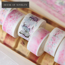 Romantic Cherry Blossom Sakura Show Paper Washi Tape Adhesive Tape DIY Scrapbooking Sticker Label Masking Craft Tape