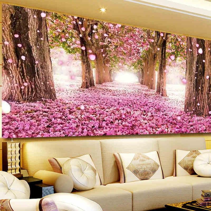 40*100cm Diamond Painting/ Living Room Full Of Drilling Cherry Tree ...