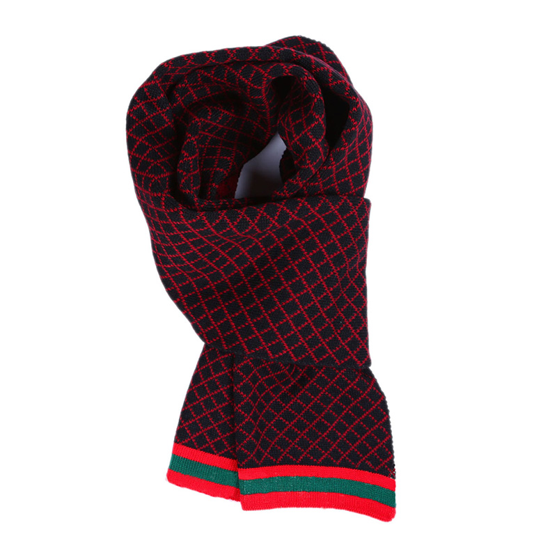new british style plaid scarf 4 colors all match acrylic cable knitted