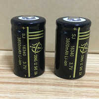 DING LI SHI JIA 4pcs 16340 Battery 3.7V Rechargeable 3800mAh Lithium Li-ion Battery CR123A Batteries for Laser Pen Cell