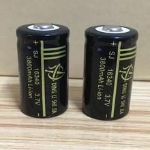DING LI SHI JIA 4pcs 16340 Battery 3.7V Rechargeable 3800mAh Lithium Li-ion Battery CR123A Batteries for Laser Pen Cell цена