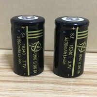 DING LI SHI JIA 4 pièces 16340 Batterie 3.7 V Rechargeable 3800 mAh Lithium Li-ion Batterie CR123A Batteries pour Stylo Laser Portable