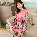 New 2015 Pijama Pyjama Femm Home Clothing Pijamas Mujer Pijama Feminino Pijamas Entero Manga Full Pajamas Adventure Time Winter