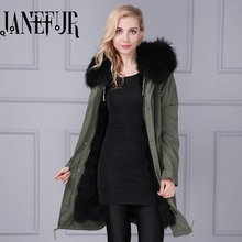 2016 Women Winter Jacket Casual Fashion Women Parka High Quality Female Raccoon Fur Hooded Coat Brand Parka Plus Size