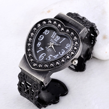 luxury rhinestone watch fashion heart watch women watches bracelet women s watches clock saat relogio feminino