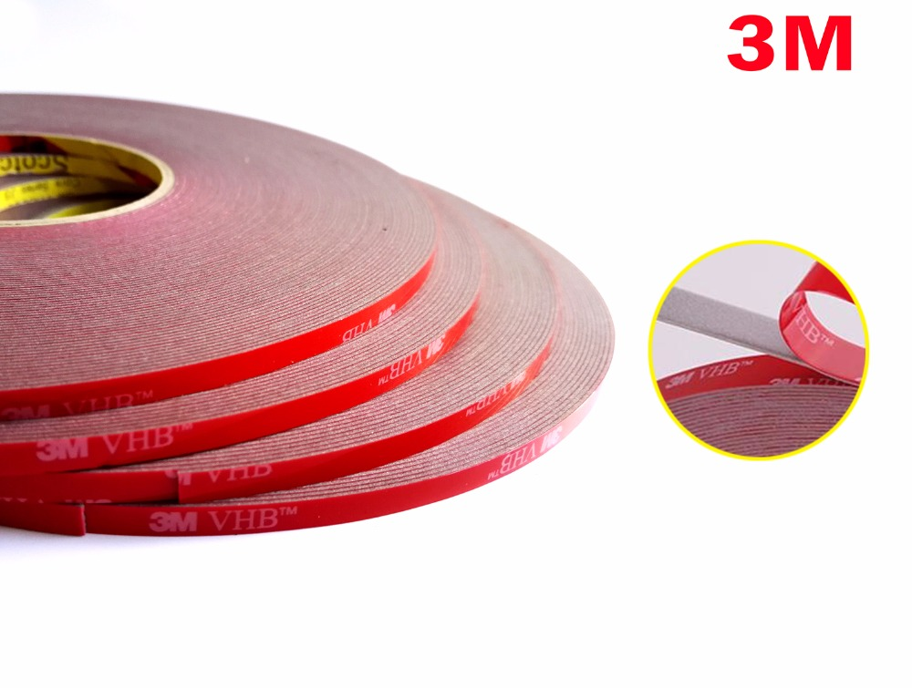 5mm*33Meters 3M VHB Double Sided Adhesive Acrylic Foam Tape for Car Automobile, Metal Panel 1pcs 45mm x 5mm single sided self adhesive shockproof sponge foam tape 3 meters