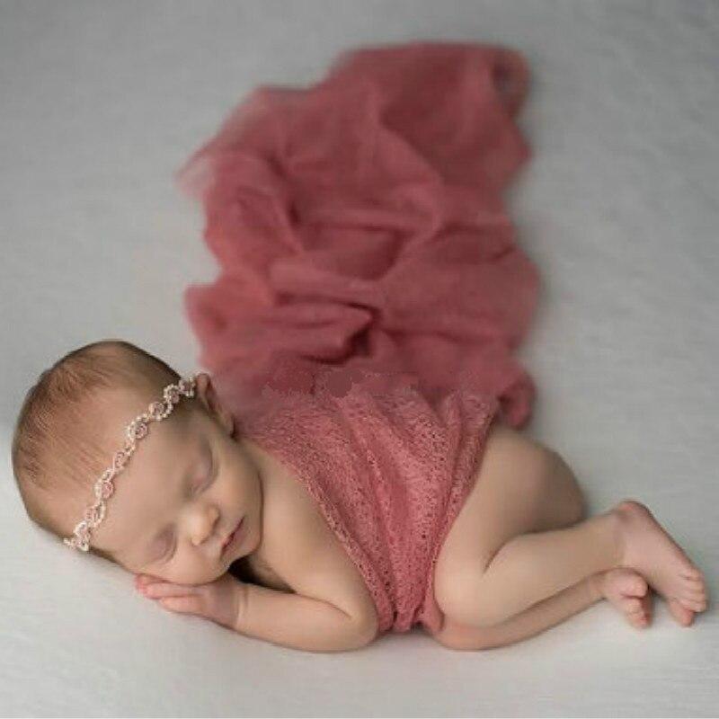 Noworodka fotografia rekwizyty wrap akcesoria sesji zdjęciowej prop koc studio dziecko przewijać miękkie stretch okłady dla noworodka