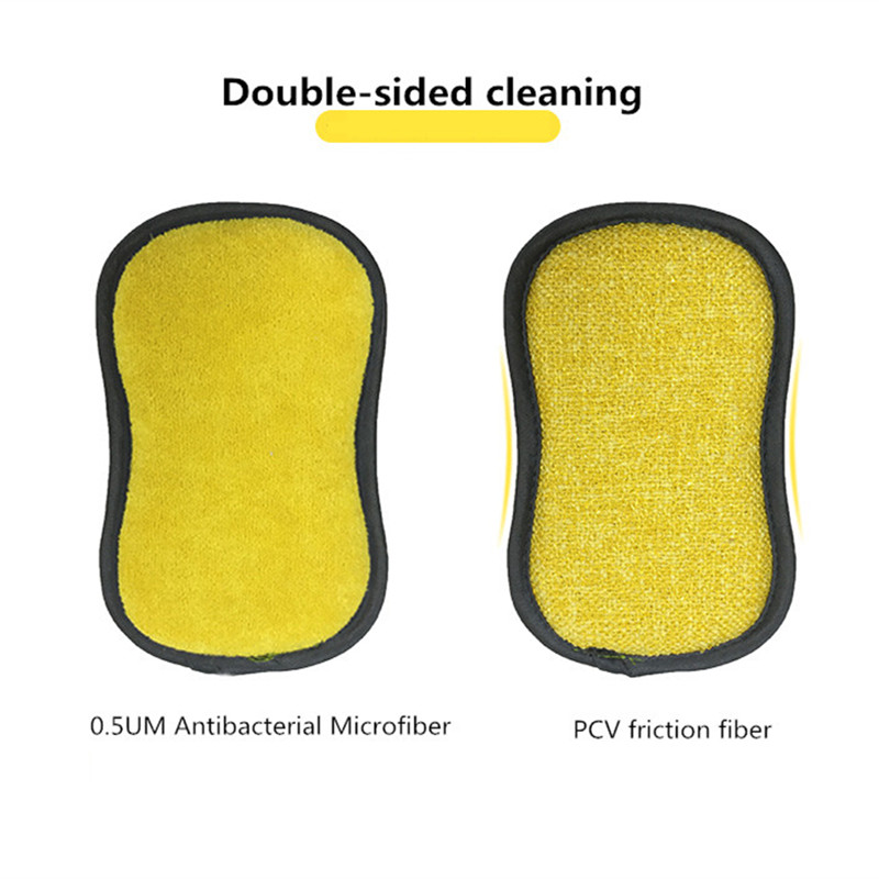 Image 4 - 5pcs Anti microbial cleaning sponge magic sponge melamine sponges kitchen sponge for washing dishes kitchen scourer pan brush-in Sponges & Scouring Pads from Home & Garden