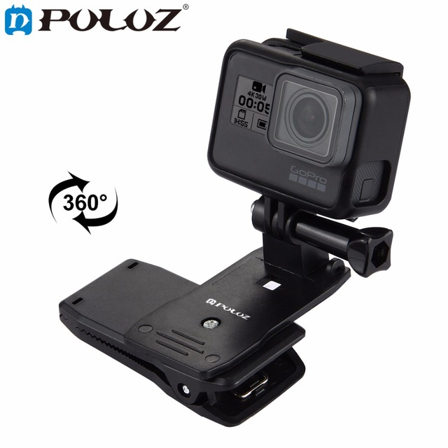c9a8519a For Go Pro Accessories 360 Degree Backpack Quick Release Hat Clip Fast  Clamp Mount for GoPro HERO5 HERO4 Session HERO 5 4 3+ 3