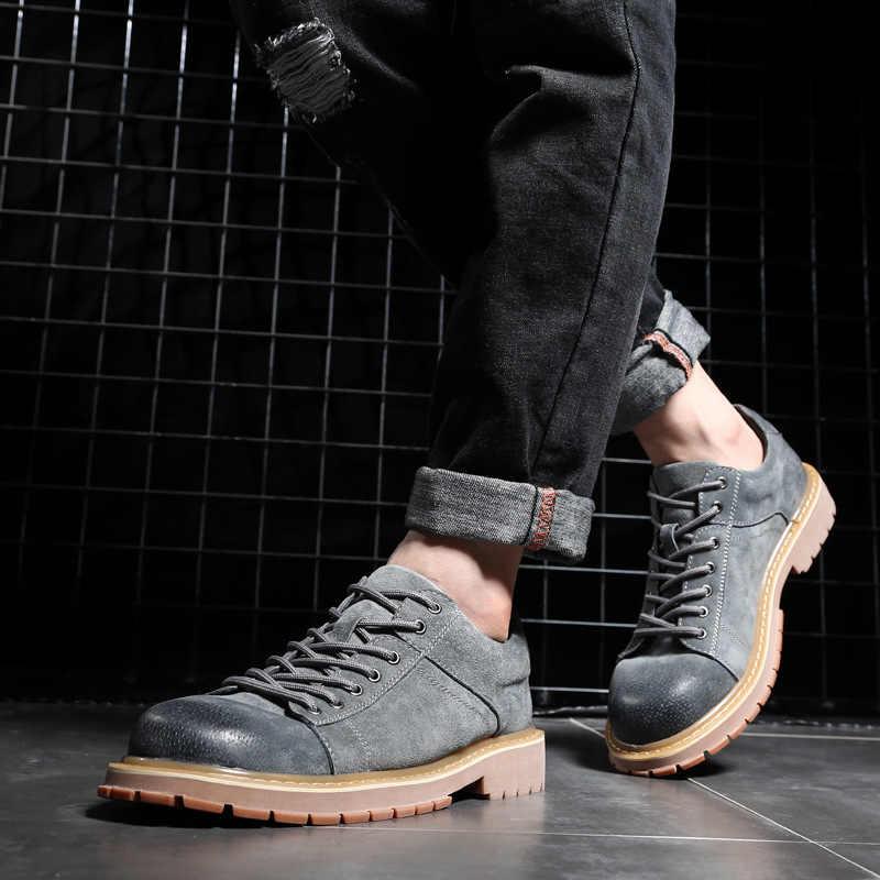 Erkek ayakkabıları Kore versiyonu çizmeler erkek pamuklu ayakkabılar İngiltere çöl takım botları H-7522