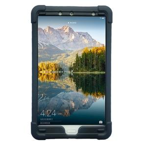 Image 1 - MingShore 견고한 아이 친화적 인 충격 방지 실리콘 커버 케이스 화웨이 MediaPad M5 8.4 인치 SHT AL09 SHT W09 태블릿