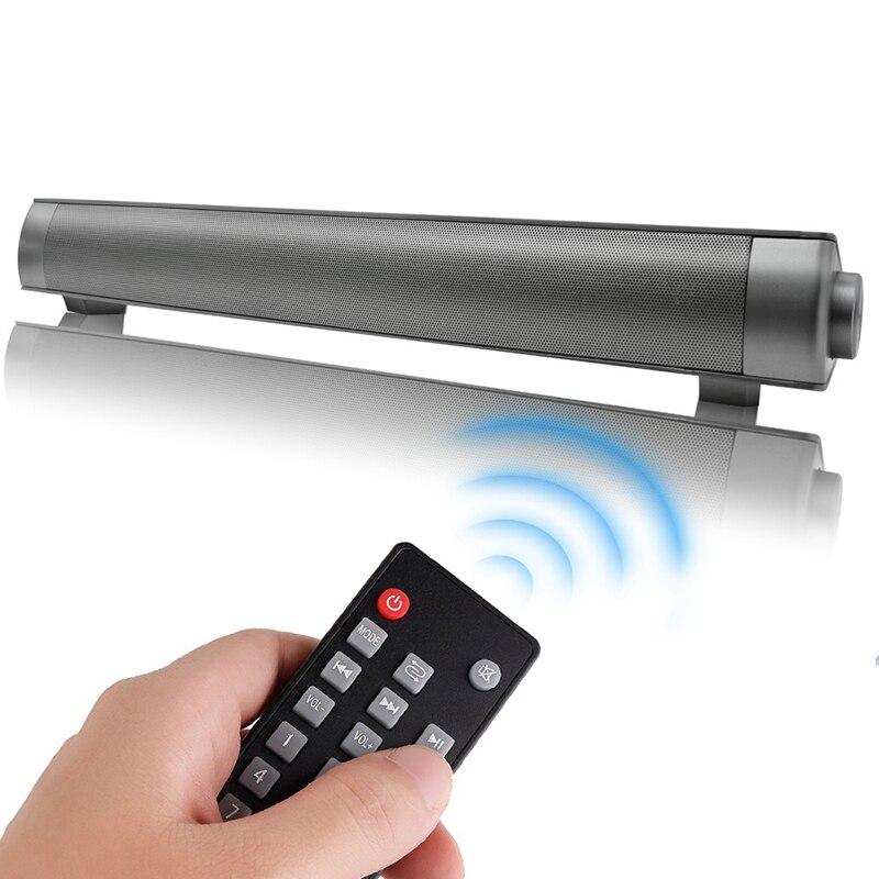 Powerful Bluetooth SoundBar Wireless Subwoof Bluetooth Speaker LP-08 HIFI Mini Altavoz USB TV sound Soundbar for PC Tablets TV wireless mini bluetooth soundbar for tv