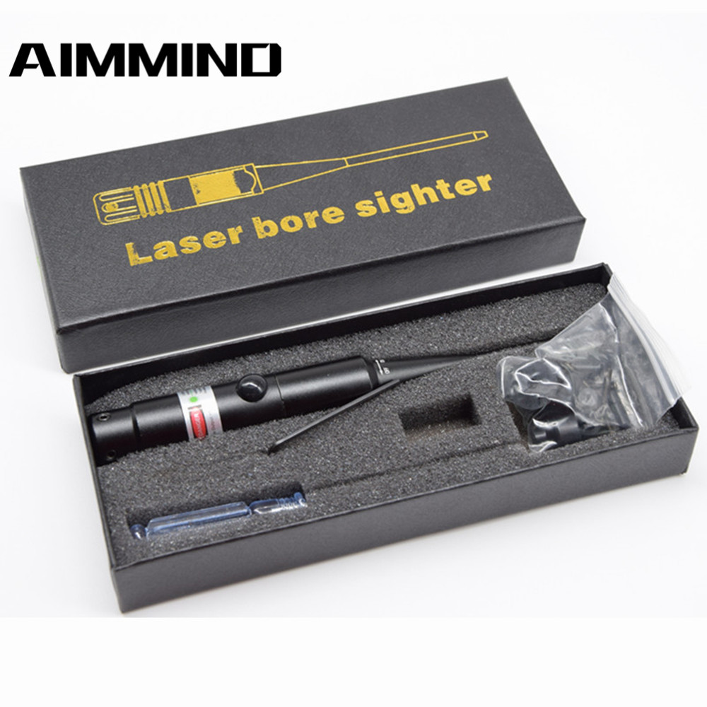 Laser Boresighter Red Dot Laser Sight with On/Off Knob 8 Expandable Adapters Hunting Outdoor Equipment