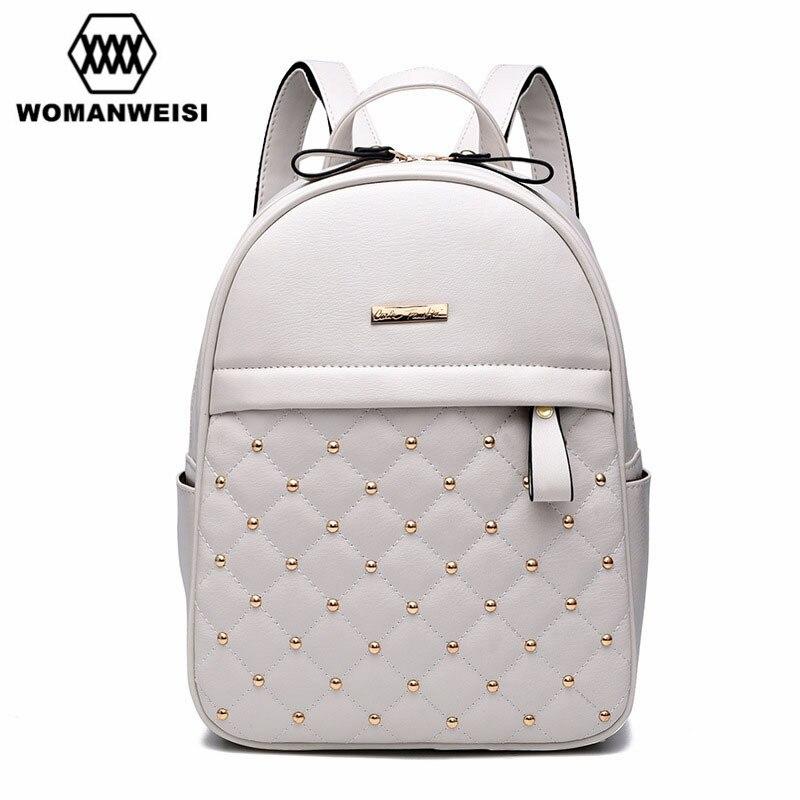 2017 Luxury Leather Backpacks For Teenage Girls Fashion Brand Women Bagpack School Bags For Teenagers Mochila