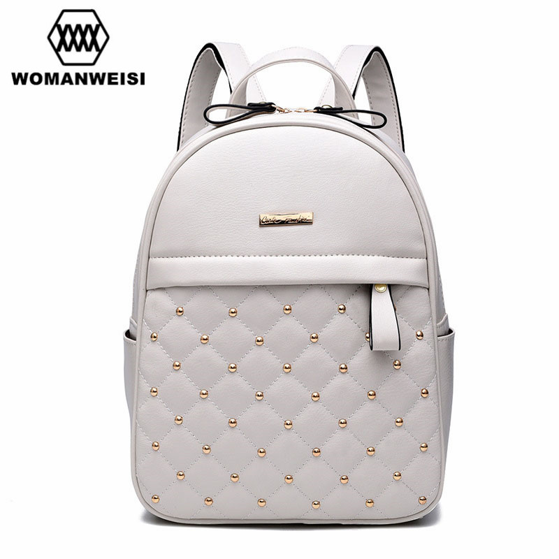 2018 Luxury Leather Backpacks For Teenage Girls Fashion Brand Women Bagpack School Bags For Teenagers Mochila Escolar Rucksack игровой комплекc perfetto sport rimini кольца