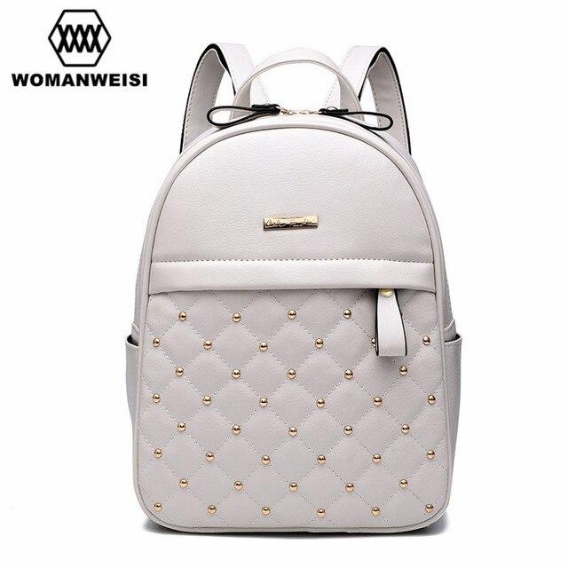 82024672a3e 2018 mochilas de cuero de lujo para adolescentes de marca de moda para  mujeres Mochila Escolar