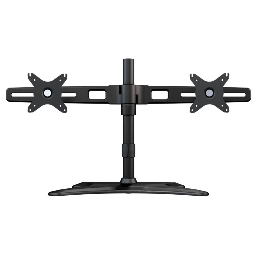 high quality Aluminum Alloy 15-27 inch Dual Monitor Holder 360 Rotation Free Lifting Tilt Monitor Stand Loading 10kgs Each Head