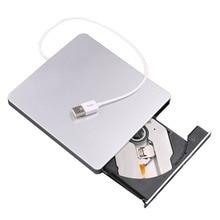 USB CD/DVD-RW записывающая горелка внешний жесткий диск для портативных ПК Mac Macbook Pro USB 2,0 интерфейс интеллектуальное сжигание
