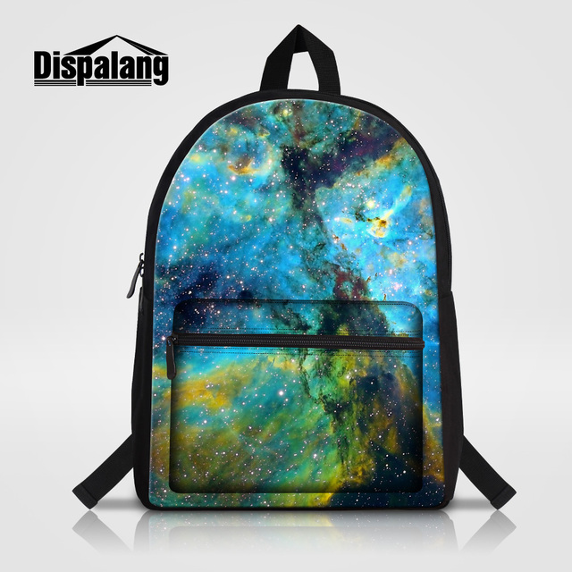 Dispalang Personality School Bag For High School Galaxy Stars Printed Backpack For Laptop Universe Space Canvas Rucksack Mochila