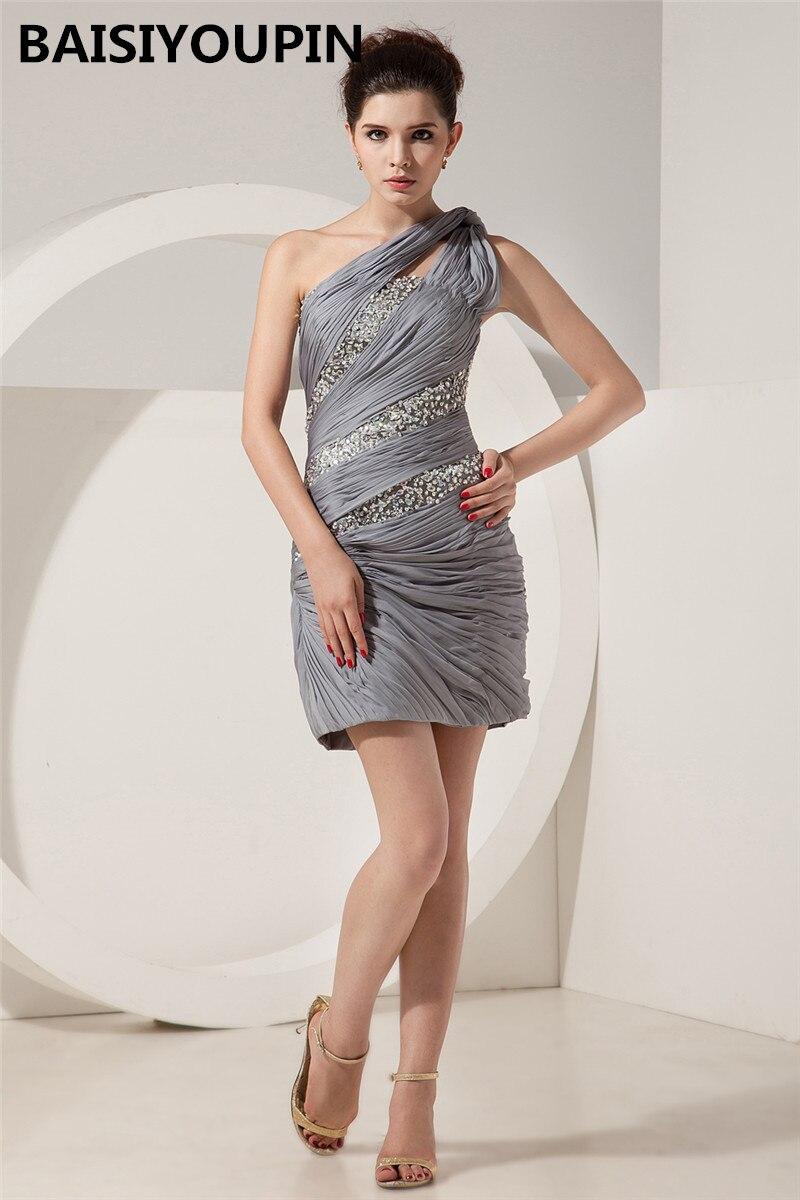 Mère De La mariée robe courte Vestidos Madres De La Novia 2019 Sexy une épaule robes De soirée Cocktail